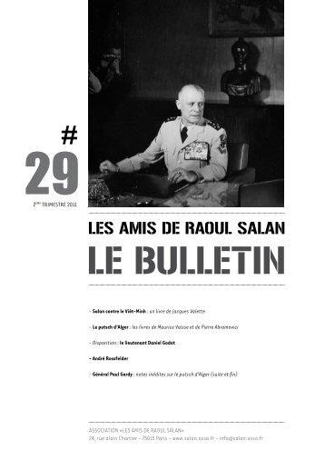 bulletin 29 / 2eme trimestre 2011 - Association des amis de Raoul ...