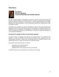 1 Présentateurs Lise Bastien Directrice générale Conseil en ...