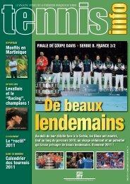 TENNIS INFO N° 428 Décembre 2010-Janvier 2011 - Fédération ...