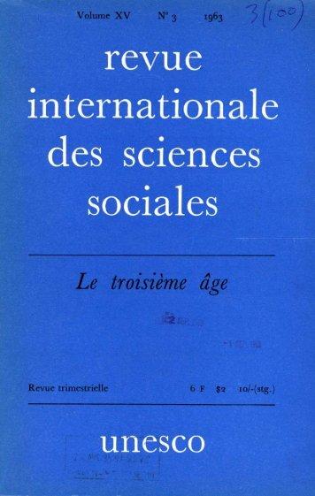 La Gérontologie sociale, ses origines, sa portée ... - unesdoc - Unesco