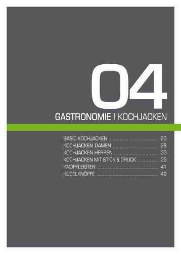 ä5ASTRONÜM|E I KÜCHJACKEN - Weber Werbung GmbH