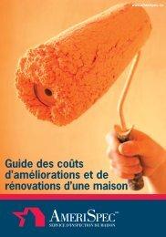 Guide des coûts d'améliorations et de rénovations d'une maison