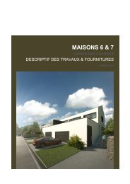 Cahier des charges - Dan Beck Immobilière