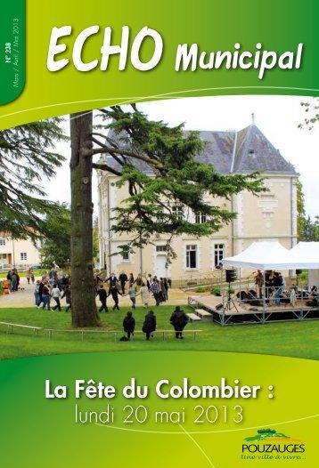 Echo Municipal Mars - Avril - Mai 2013 - Mairie de Pouzauges