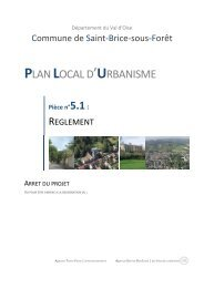 PLAN LOCAL D'URBANISME - Saint-Brice-sous-Forêt