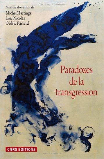 Paradoxes de la transgression - Decitre