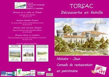Téléchargez le livret découverte de Torsac en ... - Horte et Tardoire