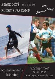 RUGBY SURF CAMP - FFR