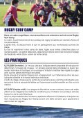 RUGBY SURF CAMP - FFR - Page 2