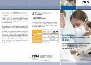 Z-QMS - Zahnärztekammer Niedersachsen