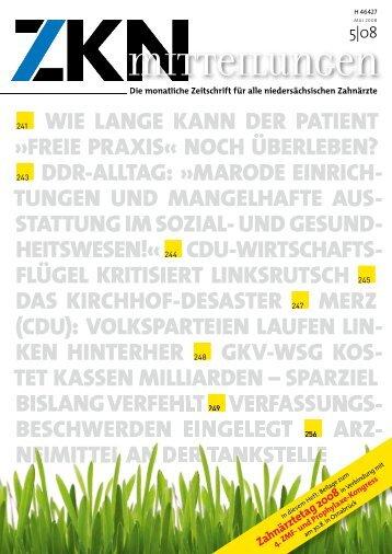 ARZ- - Zahnärztekammer Niedersachsen