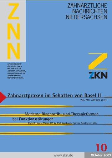Zahnarztpraxen im Schatten von Basel II - Zahnärztekammer ...