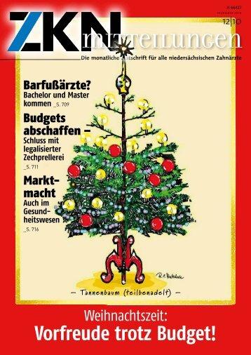 Vorfreude trotz Budget! - Zahnärztekammer Niedersachsen
