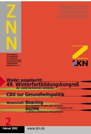 49. Winterfortbildungskongreß - Zahnärztekammer Niedersachsen