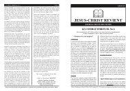 JESUS-CHRIST REVIENT - jesus christ is lord