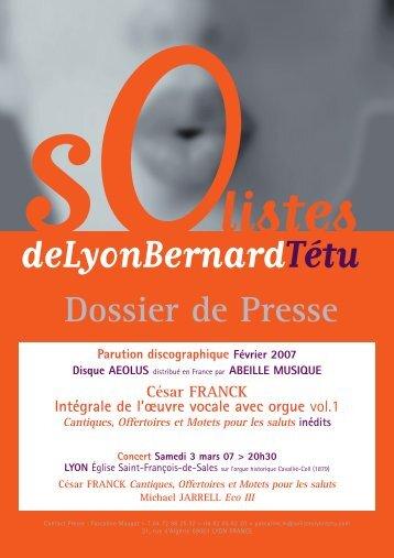 César FRANCK - Association Cavaillé-Coll à Saint François