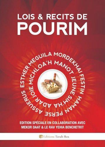 Lois & Récits de Pourim - Torah-Box.com