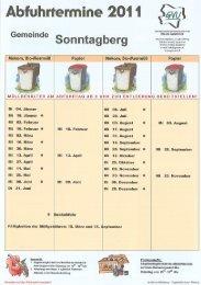 Abfuhrtermine 201 1 w} - Gemeinde Sonntagberg
