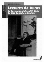 Lectures de Duras, PUR, 2005 - Véronique Taquin