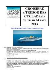 CROISIERE « TRESOR DES CYCLADES » du 14 au 24 ... - Atscaf