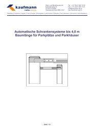 Automatische Barrieren mit Baumlänge bis 4,0 m - Kaufmann AG