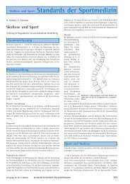 Skoliose und Sport Standards der Sportmedizin - Deutsche ...