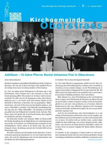 Jubiläum – 10 Jahre Pfarrer Daniel Johannes ... - Kirche Oberstrass