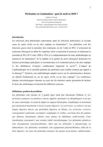 peritonites en rea texte.pdf - CHU - Montpellier