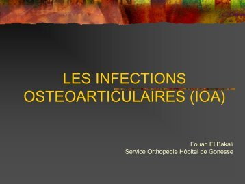 les infections osteo..