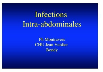 Infections Intra-abdominales - Institut d'Anesthésie-Réanimation de ...