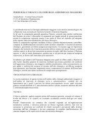 peridurale toracica in chirurgia addominale maggiore - Alritalia.It