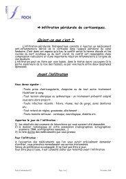 L'infiltration péridurale de cortisoniques - Hôpital Foch