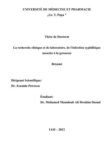 """UNIVERSITÉ DE MÉDECINE ET PHARMACIE ,,Gr. T. Popa """" Thése ..."""