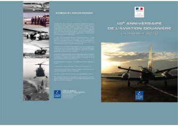 Plaquette des 50 ans d'aviation douanière (PDF-7 Mo) - Douane