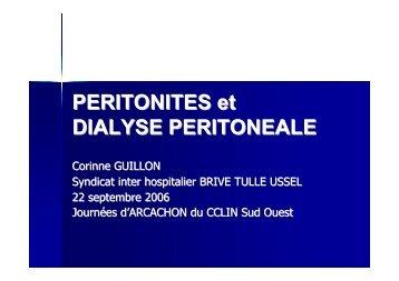 PERITONITES et DIALYSE PERITONEALE - CLIN Sud-Ouest