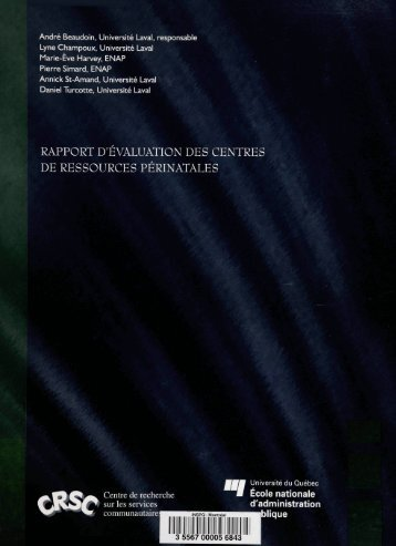 RAPPORT D'EVALUATION DES CENTRES DE RESSOURCES ...