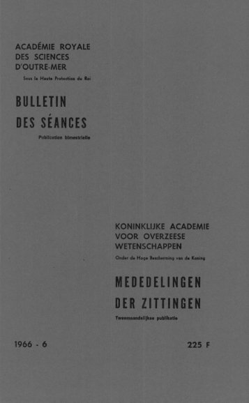 (1966) n°6 (PDF format) - Royal Academy for Overseas Sciences