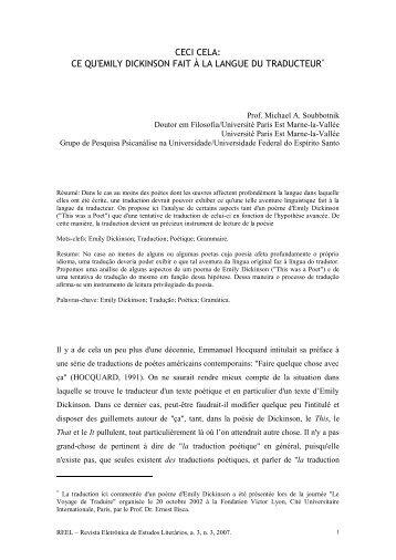 REEL – Revista Eletrônica de Estudos Literários, a. 3, n - UFES ...