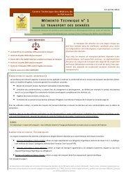 Fiche 1 - TRANSPORT - Patisserie Artisanale