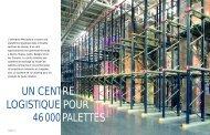 UN CENTRE LOGISTIQUE POUR 46 000 PALETTES - Mecalux