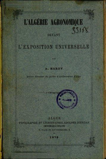 L'ALGERIE AGRONOMIQUE