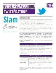 guide pédagogique de la Twittérature - TFO