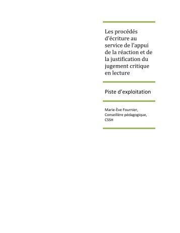 procédés d'ecriture - Espace pédagogie des Services éducatifs ...