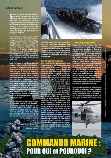 COMMANDO MARINE : - Fusiliers marins et commandos ma