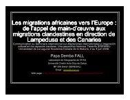 (Microsoft PowerPoint - Les migrations africaines vers l ... - Matrix
