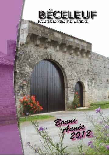Bulletin municipal Béceleuf 2012 - Communauté de communes ...