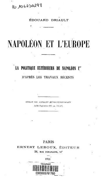 Napoleon et l'Europe - Bibliothèque numérique de l'école nationale ...