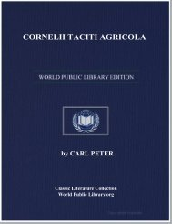 CORNELII TACITI AGRICOLA - World eBook Library
