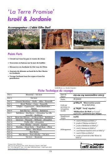 Terre Sainte & Jordanie NOV2013-2 - Voyage Inter-Mission