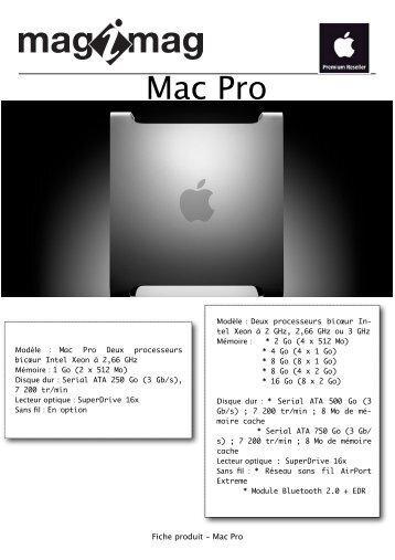 Fiche produit - Mac Pro - Magimag